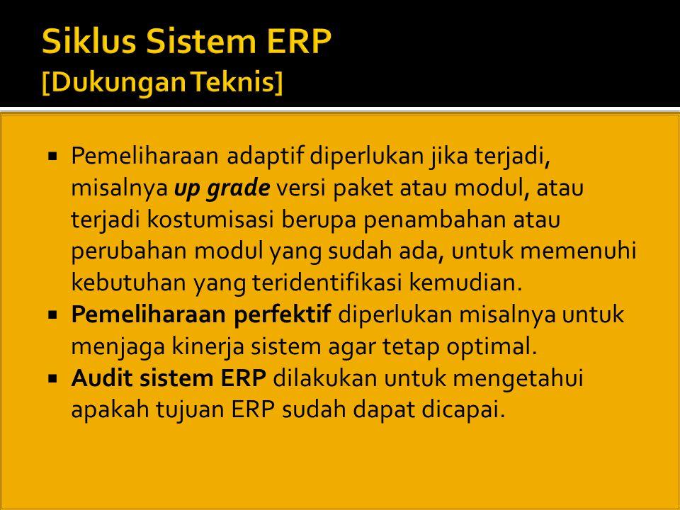 Siklus Sistem ERP [Dukungan Teknis]